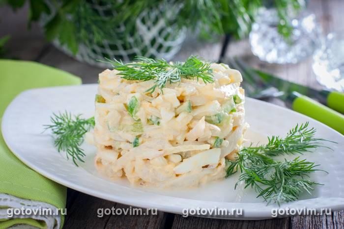 и рисом салат с кальмарами Постный