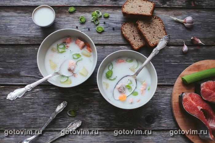 суп из красной рыбы со сливками рецепт