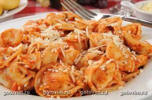 Тортеллини с куркумой – кулинарный рецепт