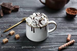 Какао с маршмеллоу и вафлями