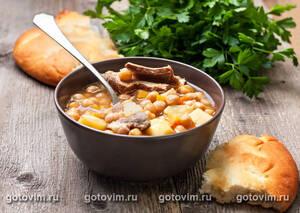 Суп из ягненка с нутом и овощами