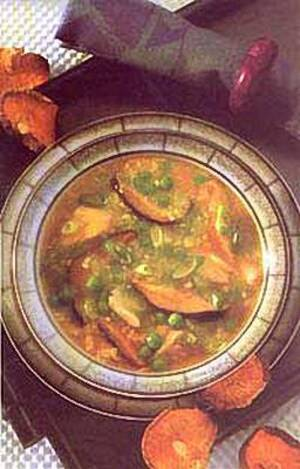 Суп крабовый с китайскими грибами