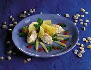Мусс из малосольной норвежской семги и сливочного сыра