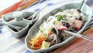Пряный салат с форелью норвежских фьордов и
