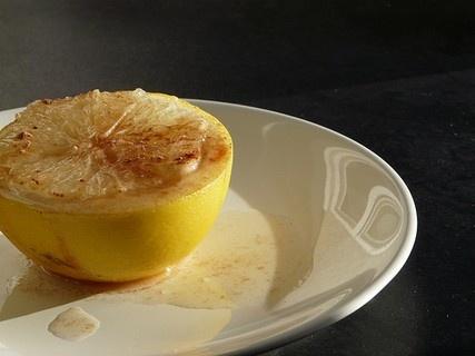 грейпфрут запеченый с корицей