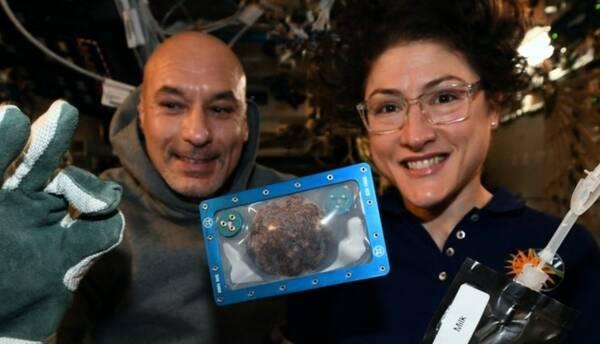 Астронавты на МКС приготовили шоколадное печенье