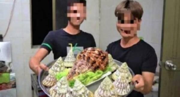 В Китае задержали видеоблогера за то, что он съел редкого моллюска