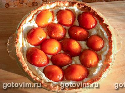 Пирог с абрикосами и творожной начинкой, Шаг 06