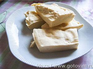 Домашний сыр (типа адыгейского)