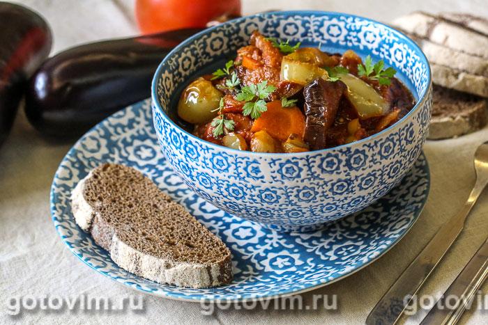 Аджапсандал – овощное рагу по-грузински. Фотография рецепта