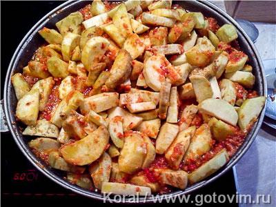 Баклажаны по-керченски с помидорами и перцем, Шаг 03