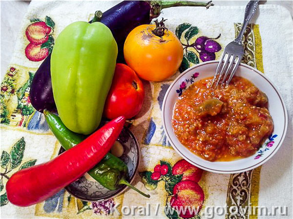 Баклажаны по-керченски с помидорами и перцем. Фотография рецепта