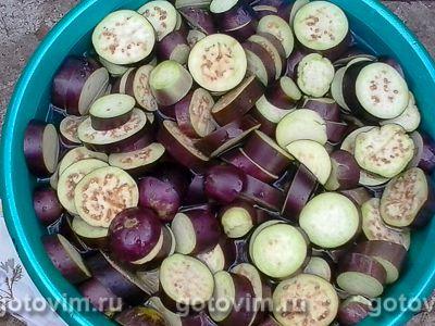 Баклажаны на зиму по-грузински в томатной заливке , Шаг 01
