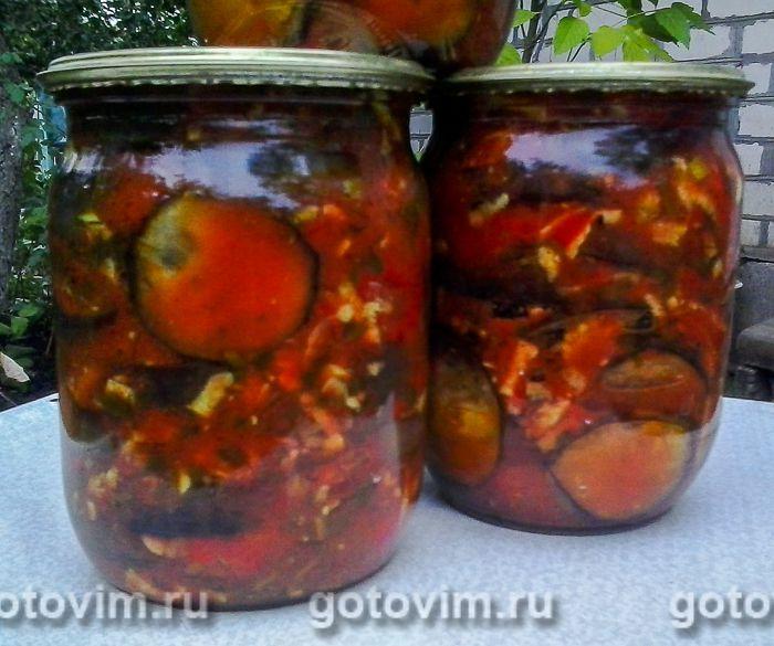 Баклажаны в заливке из помидор