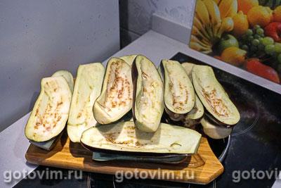Баклажаны, фаршированные курицей и овощами, Шаг 04