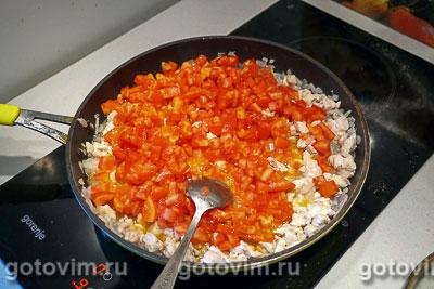 Баклажаны, фаршированные курицей и овощами, Шаг 06