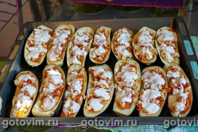 Баклажаны, фаршированные курицей и овощами, Шаг 08
