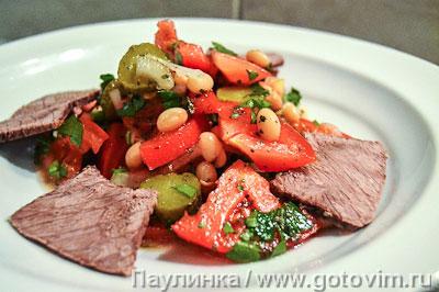 Баскский мясной салат. Фотография рецепта