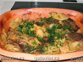 Говядина с картошкой в пиве