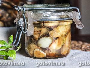 Консервированные жареные белые грибы
