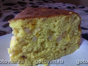 Бисквитный пирог с фруктами в мультиварке