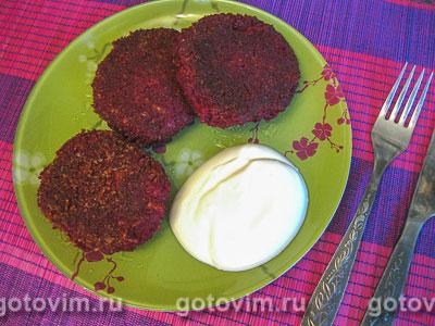 Котлеты из свеклы с сыром. Фотография рецепта