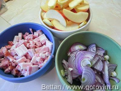 Блин с грудинкой, яблоками и тимьяном в духовке, Шаг 01