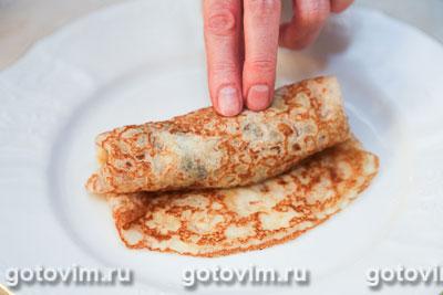 Блины с начинкой из лесных грибов с картофельным пюре, Шаг 05