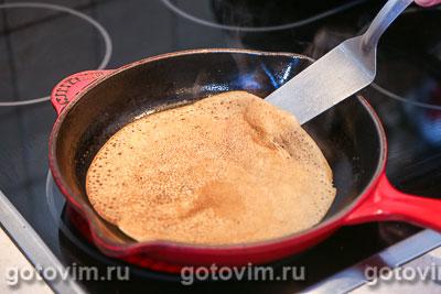 Рецепт блинов с паштетом