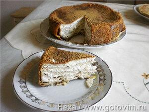 Блинчатый пирог с сыром