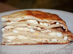 Блинный торт «Попадьин пирог»
