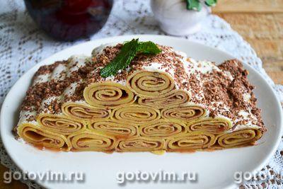 Блинный торт с малиновым конфитюром
