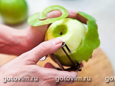 Блины с яблоками в карамели, Шаг 01