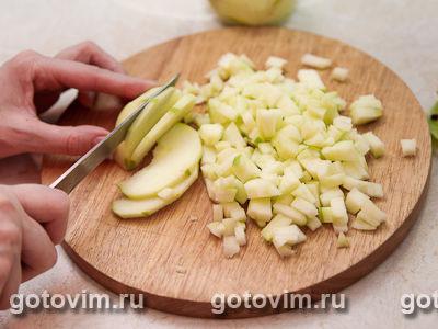Блины с яблоками в карамели, Шаг 02