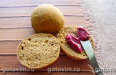 Фотография рецепта Бородинские булочки к завтраку