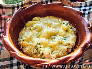 Бринджула (заливной пирог с сыром и яйцами)