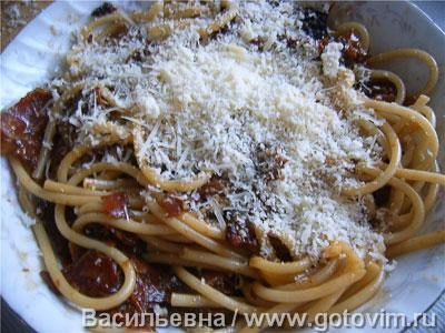 Макароны букатини с соусом аматричана (Bucatini all'amatriciana), Шаг 06