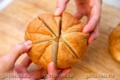 Теплые булочки с сыром и чесноком на завтрак, Шаг 04