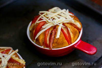 Булочки, фаршированные сыром и колбасой, Шаг 09