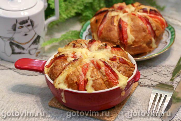 Булочки, фаршированные сыром и колбасой. Фотография рецепта