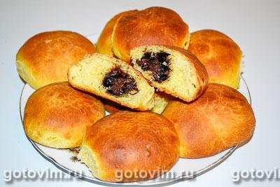 Фотография рецепта Сдобные булочки, с тыквенным пюре