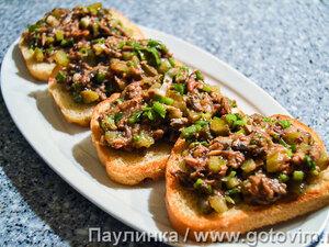 Бутерброды с килькой в томате