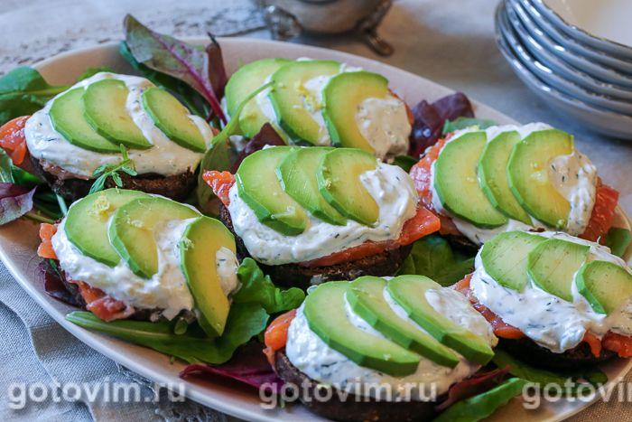 бутерброды с авокадо рецепт