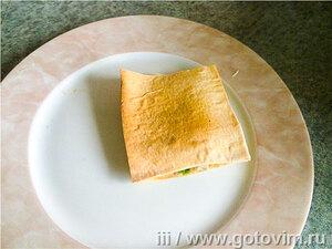 Хрустящий бутерброд из лаваша