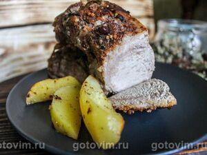 Корейка в имбирной глазури с кумкватоми – кулинарный рецепт