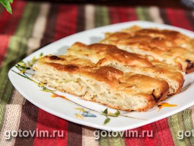 Быстрый капустный пирог. Фотография рецепта