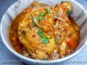 Чахохбили из курицы (или цыпленка) в казане