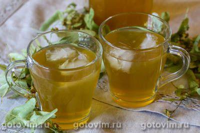 Холодный зеленый чай с липой и медом