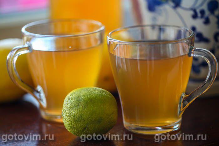 Зеленый чай с мятой и лимоном