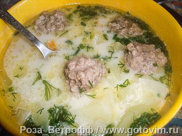 суп с фрикадельками и плавленными сырками